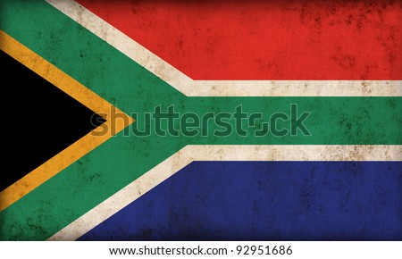 South Africa flag background