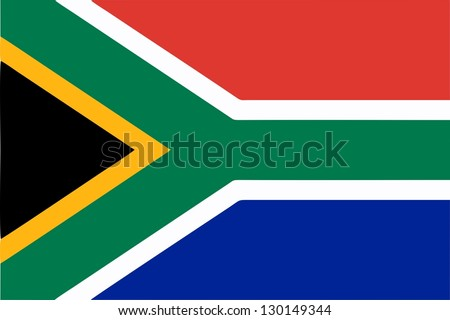 South Africa flag icon - isolated illustration