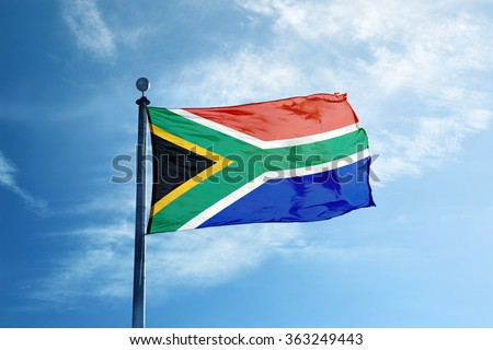 South Africa flag on the mast #363249443