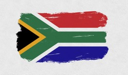 South Africa  flag on the wall.