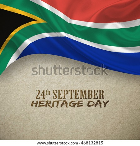 South Africa Heritage Day concepts background, 3D illustration.
