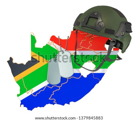 South Africa military force force, army or war concept. 3D rendering isolated on white background