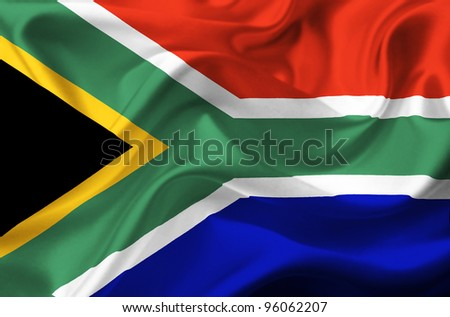 South Africa waving flag