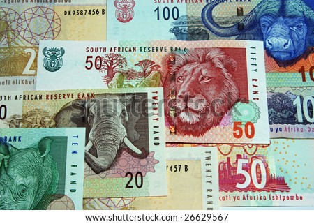 South African currency - stock photo