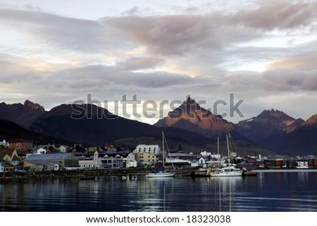 South America. Argentina. Patagonia. Tierra del Fuego. USHUAIA.