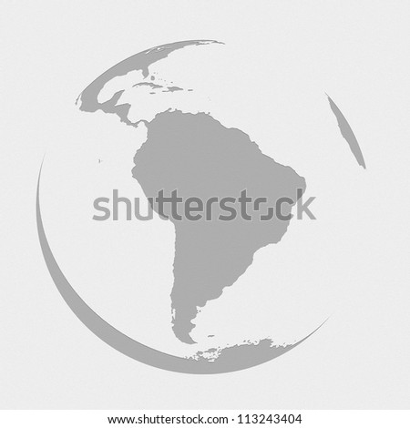 south america globe planet earth map - stock photo