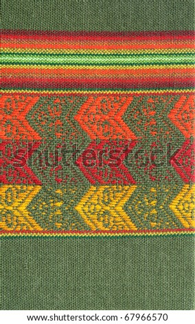 South America Indian textile pattern