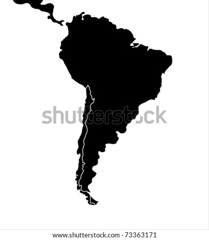 South america map, illustration