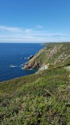 South Coast Cliffs Guernsey Channel Islands