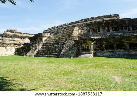 South corner of the Arroyo Group in Tajín archaeological area Foto stock ©