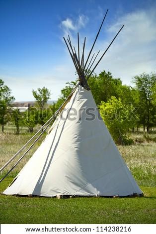 South Dakota Lakota Tribe Wigwam. A Wigwam Is a Domed Room Dwelling Used by Certain Native American Tribes Like Lakota. Wigwam ( or Wickiup ) Vertical Photography. South Dakota, U.S.A.