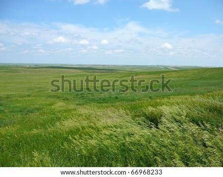 South Dakota Plains with Sky Horizontal ストックフォト ©