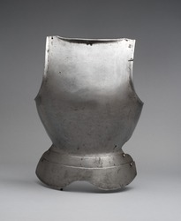 South German Silver Breastplate, Medieval knight Armor