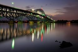 South Grand Island Bridge over the Niagara RIver, Buffalo, New York (NY)