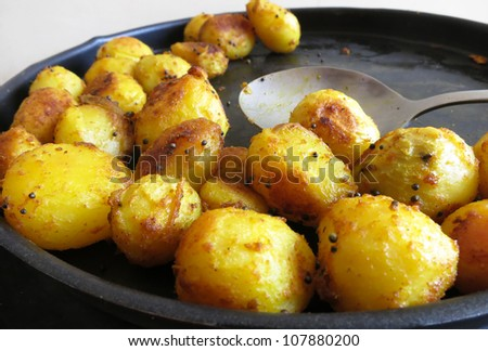 South Indian potato semi-fry or curry. This is a very simple and yummy dish typical to South India