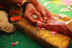 South Indian wedding rituals, Indian wedding rituals of bride and groom with wedding background