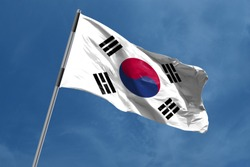 South Korea Flag waving