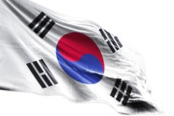 South Korea Flag waving stock Image