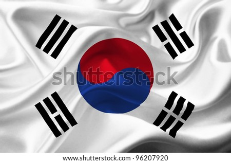 South Korea waving flag