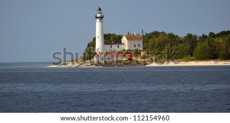 South Manitou Island Lighthouse, Sleeping Bear Dunes National Lakeshore. Michigan USA