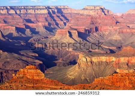South Rim Grand Canyon before sunset Arizona US