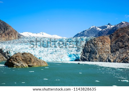 South Sawyer Glacier at the end of Tracy Arm in Tracy Arm-Fords Terror Wilderness, Alaska.