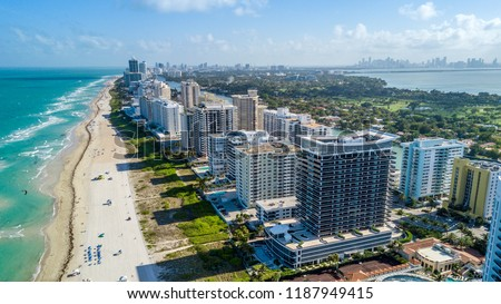 South View of the Miami Beach Coastline