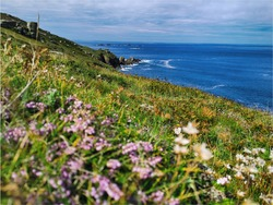 South west coast path is going through beautiful town of sennen cove, perfect for hiking or night stay