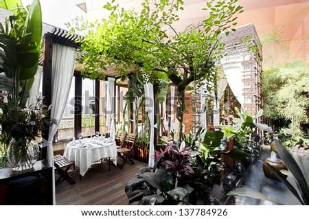 Southeast Asian style garden restaurant