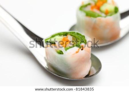 Southeast Asian Style Summer Roll