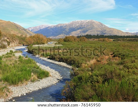 Southern alpine alps mountain at Arthur's Pass National Park New Zealand
