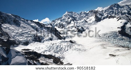 Southern Alps, West Coast, South Island, New Zealand.