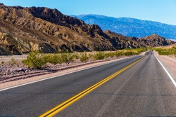 Southern California Desert Highway near Death Valley. United States.