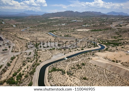 Southern Canal portion of the Central Arizona Project in Mesa