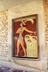 Southern Entrance at Knossos:  Corridor with the