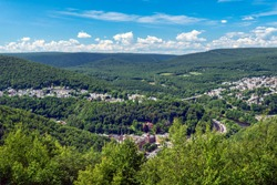 Southern Poconos, Beautiful View of Jim Thorpe, PA