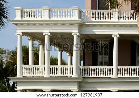 Southern style porch / balcony - stock photo