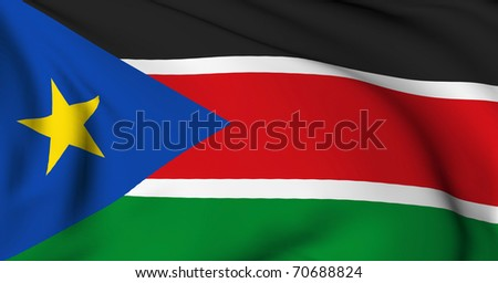 Southern Sudan flag World flags Collection