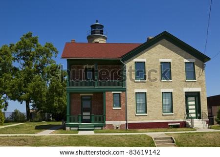 Southport Lighthouse on Lake Michigan