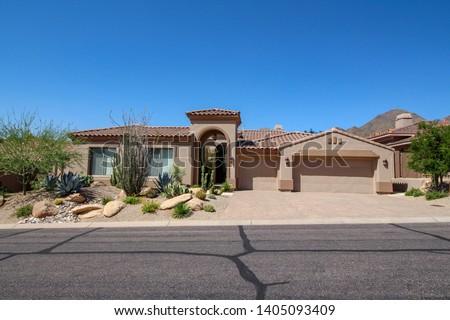 Southwest Home in Phoenix Arizona Stockfoto ©
