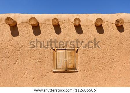 Southwestern adobe wall background