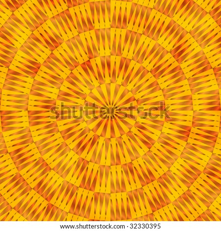 Southwestern tribal pattern in orange and yellow