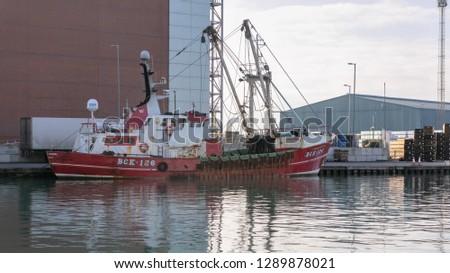 Southwick, Sussex, UK; 20th January 2019; Trawler Zara Annabel Moored in Shoreham Port #1289878021