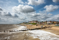 Southwold beach in Suffolk East Anglia