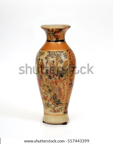 Souvenir Chinese vase in ancient traditions #557443399