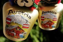 souvenir from Austria bell on a cow. National Austrian bell souvenir