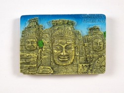 Souvenir (magnet) from Cambodia isolated on white background
