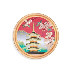 Souvenir (magnet) from Japan isolated on white background. Design element with clipping path