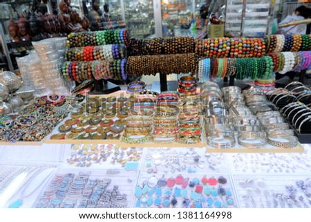 Souvenir shop at old market at Siem Reap, Cambodia.  #1381164998