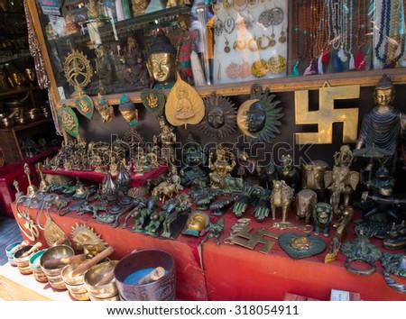 Souvenir shop in India